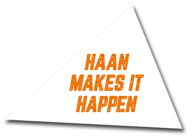 Haan makes it happen